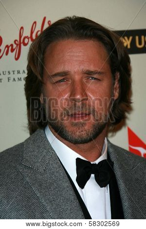 Russell Crowe at the G'Day USA Penfolds Black Tie Icon Gala. Hyatt Regency Century Plaza, Los Angeles, CA. 01-13-07