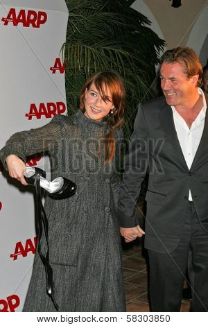 Carice van Houten and Sebastian Koch at AARP The Magazine's 2007 Movies For Grownups Awards. Hotel Bel-Air, Los Angeles, CA. 02-06-07