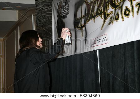 Ozzy Osbourne at the OZZFEST 2007 press conference. Century Plaza Hotel, Century City, CA. 02-06-07