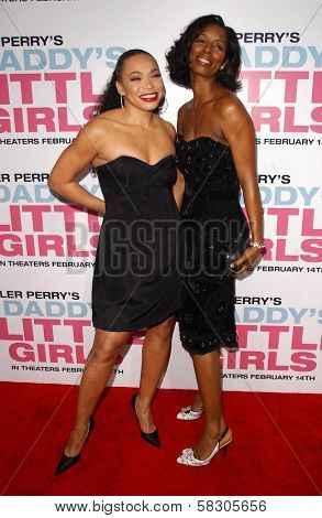 Tisha Campbell and Tasha Smith at the premiere of