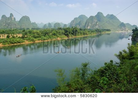 Li river in Guangxi province, China