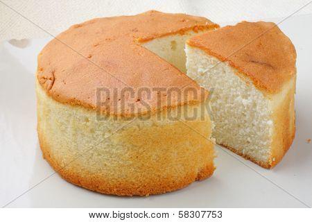 Homemade sponge cake