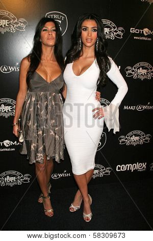 Kourtney Kardashian and Kim Kardashian at