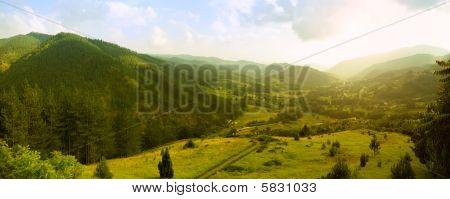 Panorama von Mokra gora