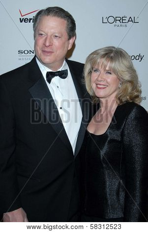 Al Gore and Tipper Gore at the 2007 Clive Davis Pre-Grammy Awards Party. Beverly Hilton Hotel, Beverly Hills, CA. 02-10-07