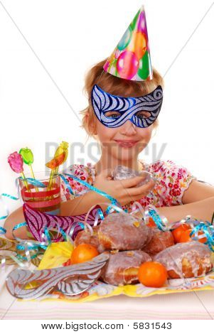 Little Girl On Birthday Party
