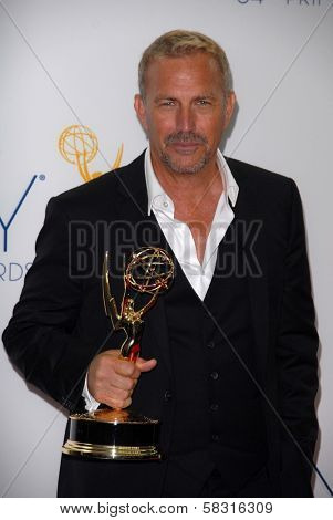 Kevin Costner at the 2012 Primetime Emmy Awards Press Room, Nokia Theater, Los Angeles, CA 09-23-12