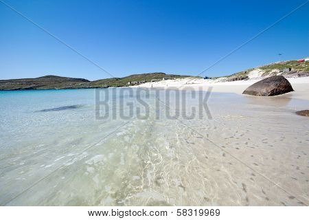 Isle Of Harris, White Sandy Beach And Crystal Clear Water