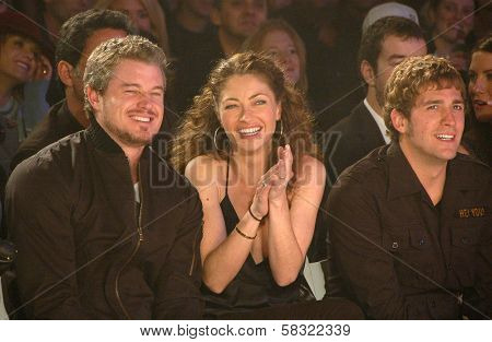 Eric Dane with Rebecca Gayheart and Eric Szmanda inside at the 2006 GM TEN Fashion Show. Paramount Studios, Hollywood, CA. 02-20-07