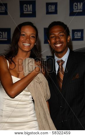 Selita Ebanks and Nick Cannon at the 2006 GM TEN Fashion Show. Paramount Studios, Hollywood, CA. 02-20-07