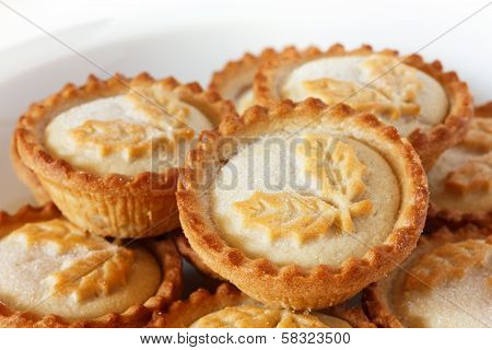 Rich Christmas mince pies on a plate