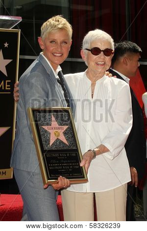 Ellen Degeneres, Betty Degeneres at the Ellen Degeneres Star on the Hollywood Walk of Fame Ceremony, Hollywood, CA 09-04-12