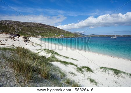 Summer in Hebrides : Colorful Bay Of Vatersay
