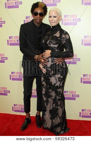 Wiz Khalifa and Amber Rose at the 2012 Video Music Awards Arrivals, Staples Center, Los Angeles, CA 09-06-12