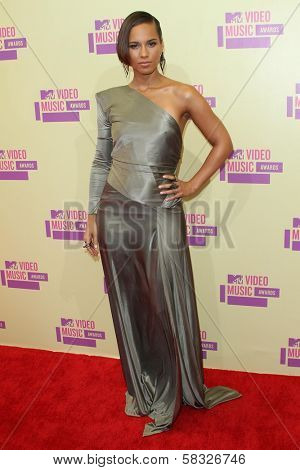 Alicia Keys at the 2012 Video Music Awards Arrivals, Staples Center, Los Angeles, CA 09-06-12