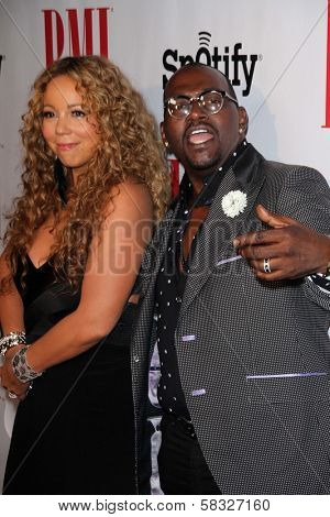Mariah Carey, Randy Jackson at the 2012 BMI Urban Awards, Saban Theatre, Beverly Hills, CA 09-07-12