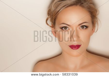Portrait Of Beautiful Woman With Make-up
