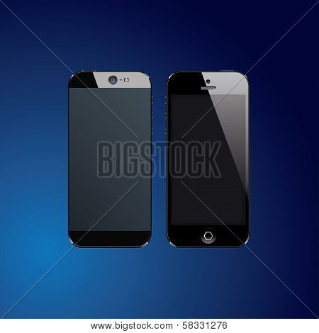 Black mobile phones