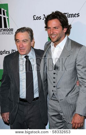 Robert DeNiro and Bradley Cooper at the 16th Annual Hollywood Film Awards Gala, Beverly Hilton Hotel, Beverly Hills, CA 10-22-12