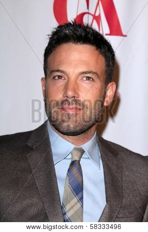 Ben Affleck at the Casting Society of America Artios Awards, Beverly Hilton, Beverly Hills, CA 10-29-12