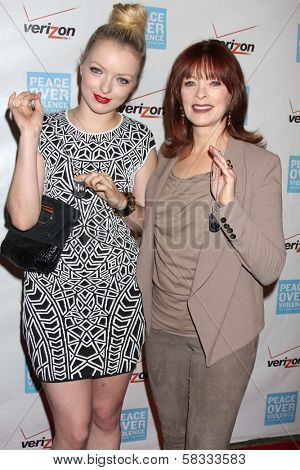 Francesca Fisher-Eastwood, Frances Fisher at the 41st Annual Peace Over Violence Humanitarian Awards, Beverly Hills Hotel, Beverly Hills, CA 10-26-12