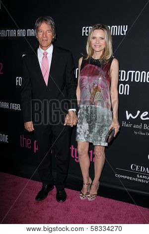 David E. Kelley, Michelle Pfeiffer at the 8th Annual Pink Party, Hangar 8, Santa Monica, CA 10-27-12