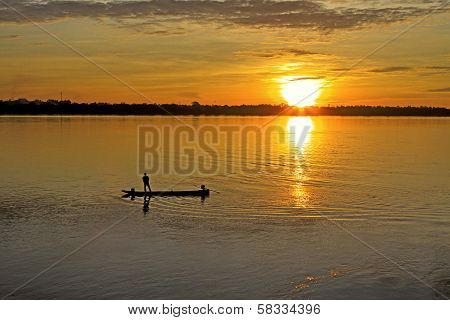 Man And Small Boat
