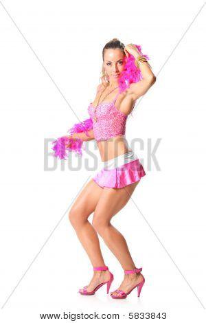 Beautiful girl with pink shawl