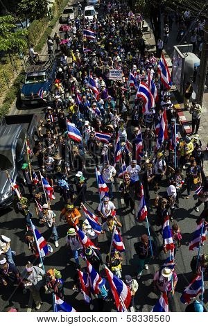 Protestors On Sukhumvit Road