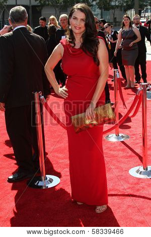 Julia Ormond at the 2012 Primetime Creative Arts Emmy Awards, Nokia Theatre L.A. Live, Los Angeles, CA 09-15-12