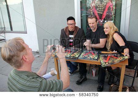 Denny Kirkwood, Michael Biehn, Jennifer Blanc at