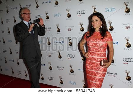 Brad Hall and Julia Louis-Dreyfus at the 64th Primetime Emmy Award Performer Nominee Reception, Spectra by Wolfgang Puck, West Hollywood, CA 09-21-12