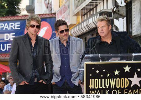 Jay Demarcus, Joe Don Rooney and Gary LeVox of Rascal Flatts on the Hollywood Walk of Fame, Hollywood, CA 09-17-12