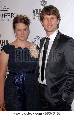 Kirsten Heder, Jon Heder at Heifer International's