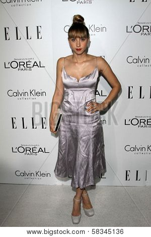 Zoe Kazan at the Elle Magazine 17th Annual Women in Hollywood, Four Seasons, Los Angeles, CA 10-15-12