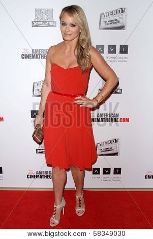 Christine Taylor at the 26th American Cinematheque Award Honoring Ben Stiller, Beverly Hilton Hotel, Beverly Hills, CA 11-15-12