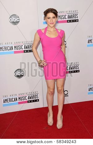 Eden Sher at the 40th American Music Awards Arrivals, Nokia Theatre, Los Angeles, CA 11-18-12