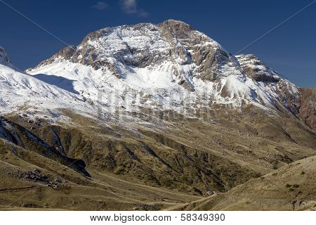 Mount Vardousia Snowcapped Summit