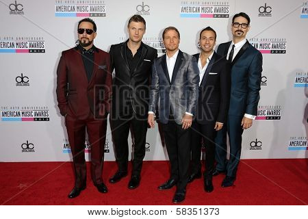 Backstreet Boys at the 40th American Music Awards Arrivals, Nokia Theatre, Los Angeles, CA 11-18-12