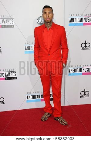 Wiz Khalifa at the 40th American Music Awards Arrivals, Nokia Theatre, Los Angeles, CA 11-18-12