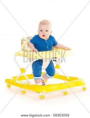 Little Child In The Baby Walker.
