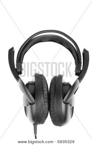 Big Closed Black Earphones