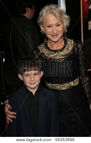 Helen Mirren and her nephew at the