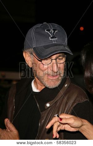 Steven Spielberg at the premiere of