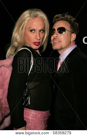Alexis Arquette and friend at Hugo Boss's