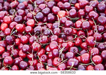 Placer ripe cherries