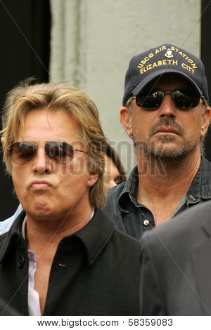 Don Johnson and Kevin Costner at the Ceremony honoring Bruce Willis with the 2,321st star on the Hollywood Walk of Fame. Hollywood Boulevard, Hollywood, CA. 10-16-06