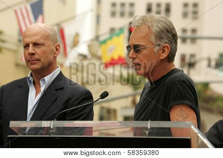Bruce Willis and Billy Bob Thornton at the Ceremony honoring Bruce Willis with the 2,321st star on the Hollywood Walk of Fame. Hollywood Boulevard, Hollywood, CA. 10-16-06