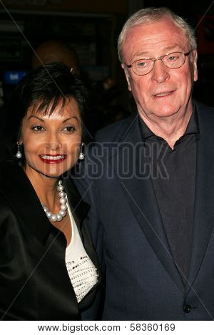 Shakira Caine and Michael Caine at the World Premiere of