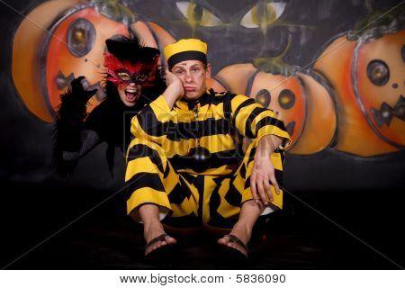 Halloween Couple Cat Dalton